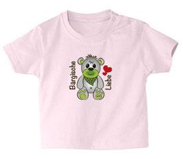 """Baby- / Kindershirt """"Bärgische Liebe"""" rosa"""