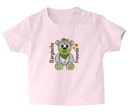 """Baby- / Kindershirt """"Bärgische Freunde"""" rosa"""