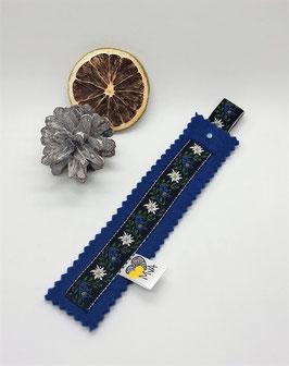 Buchzeichen Edelweiss Blau