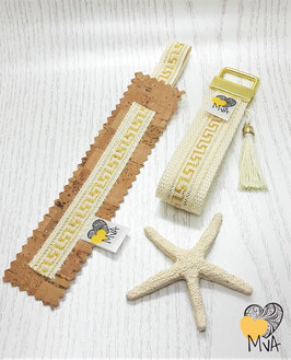♥ Geschenkset: Buchzeichen + Schlüsselanhänger Kreta Natur