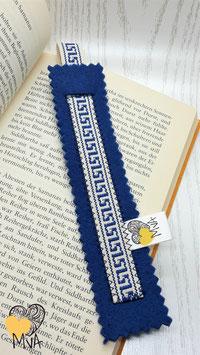 Buchzeichen Kreta Blau