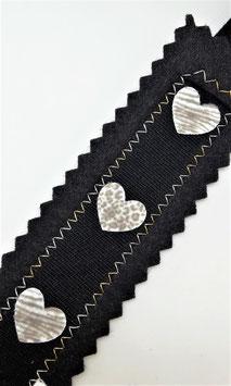 Buchzeichen Herzen Schwarz