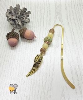 Buchzeichen Bohemian-Perle mit Engelsflügel