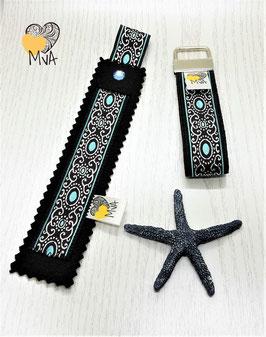 ♥ Geschenkset: Buchzeichen + Schlüsselanhänger Oriental Dream