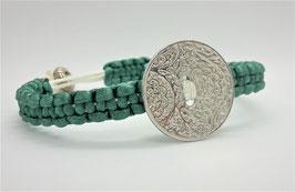 Armband  Silberkreis Jadegrün
