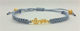 Armband Makramee Hellblau LOVE