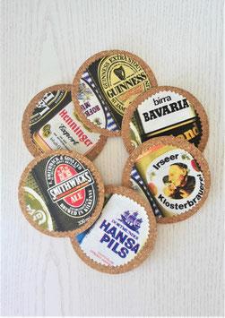 Glasuntersetzer Bier, 4er-Set