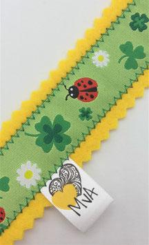 Buchzeichen Glücksbringer Gelb-Grün