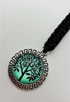 Taschenschmuck Baum des Lebens (jade-schwarz)