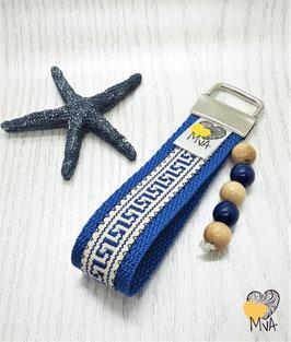 Schlüsselanhänger Kreta Blau