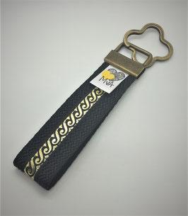 Schlüsselanhänger Orient Schwarz-Gold