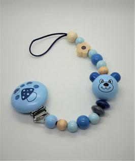 Nuggikette Bär Blau inkl. Nuggi