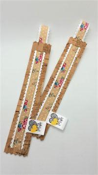 Buchzeichen Blumen / 100 % Kork