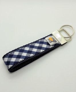 Schlüsselanhänger Karo Blau