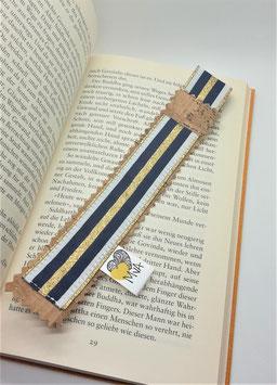 Buchzeichen Marine Gold
