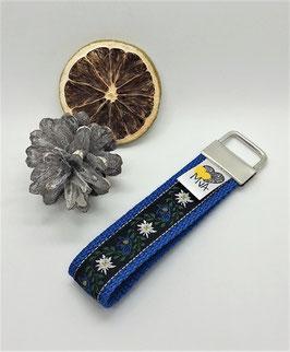 Schlüsselanhänger Edelweiss Blau