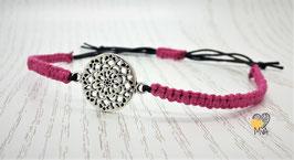 Armband Makramee Pink Lady