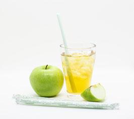 SORBOS essbare Trinkhalme - Geschmack Apfel - Strohhalme   No Plastic Party fruchtig lecker dekorativ nachhaltig