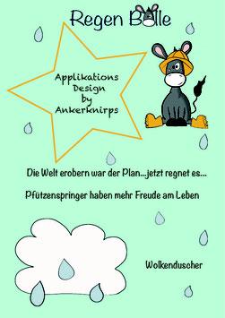 """Applikationsvorlage """"Regen Bolle und Regen Wolke"""""""