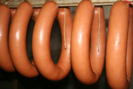 Fleischwurst mit Knoblauch