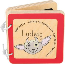 """Livre pour bébé """"Ludwig"""" pour découvrir les contrastes !"""