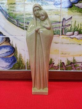 Vierge à L'enfant et la Bilble Faience de Desvres croix religion jesus eglise