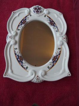 Miroir Faïence Décor Rouen