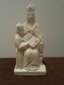 Vierge à L'enfant et la Bilble Faience de Desvres eglise christianisme religion