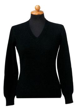 -35% Pullover Gran Sasso Donna Cashmere Lana Viscosa Nero