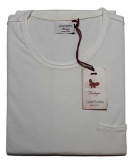 -20% Gran Sasso Vintage T-Shirt Mezza Manica con/taschino Bianco