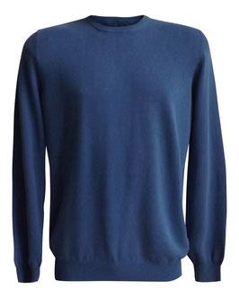 -30% Maglione Gran Sasso Vintage c/toppe denim Blu