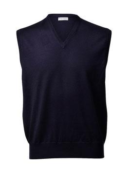 Gran Sasso Uomo Gilet Chiuso ( pullover s/m) Lana Merinos Extra Fine Blu Notte