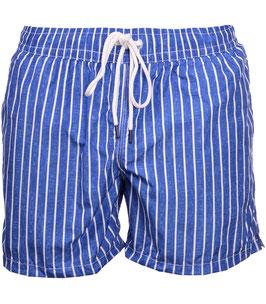 -25% Gran Sasso Costume  Uomo Da Bagno  Boxer Rigato Blue/Bianco con taschino-poschette.