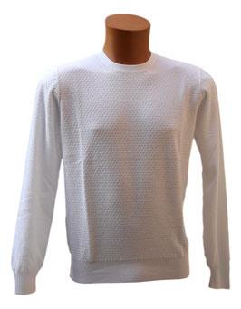 -35% Gran Sasso Maglione  Uomo Cotton Fresh Cotton Bianco