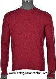 -30% Maglione Puro Cashmere Rosso Lampone Gran Sasso