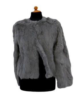 -40% Tavus Milano Giacca In Pelliccia Lapin Silver Grey