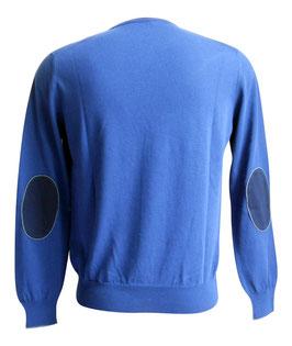 -30% Maglione Uomo Cotton Fresh c/toppe Blu