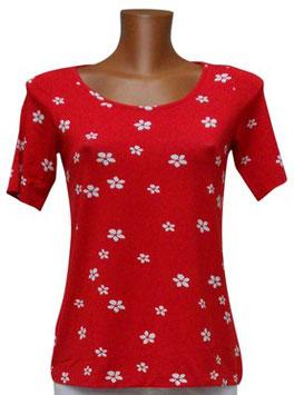 -30% Gran Sasso Maglietta A Fiori Rosso/Bianco