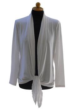 -40% Gran Sasso Donna Cardigan Estivo Bianco Cotone e Modal
