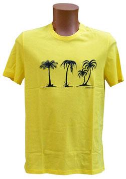 -10% Perofil T-Shirt Mezza Manica Gialla Stampa Palme