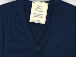 Gran Sasso Pullover Blu Lana Merinos