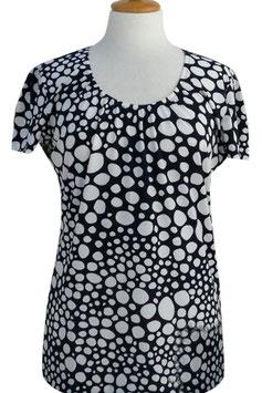 -50% Gran Sasso Maglietta Donna Girocollo  Pois Degradè Nero/Bianco
