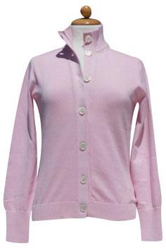 -50% Gran Sasso Donna Cardigan Bottoni Cotone Rosa
