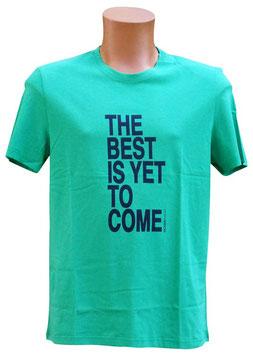 -10%Perofil T-Shirt Mezza Manica Verde Stampa Best