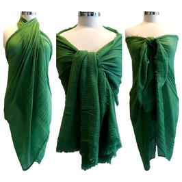 Maxi Sciarpa Pareo 180 cm x 100 cm Multiuso in Cotone e Viscosa Verde