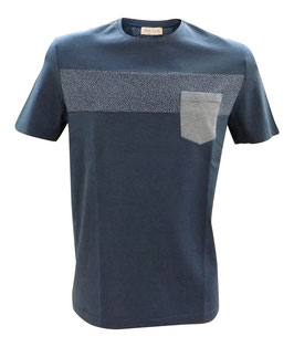 -40% Gran Sasso T-Shirt millerighe c/taschino