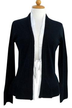 -50% Gran Sasso Donna Cardigan Cotone Blu/Bianco