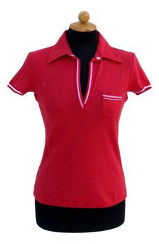 -50% Gran Sasso Polo Donna Piquet c/taschino Rosso