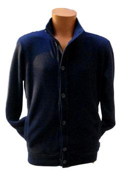 -30% Perofil Giacca Soft Cotton Micro Blu