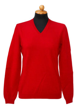 -35% Pullover Gran Sasso Donna Cashmere Lana Viscosa Rosso